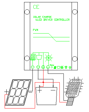 wiring diagram for solar panel controller