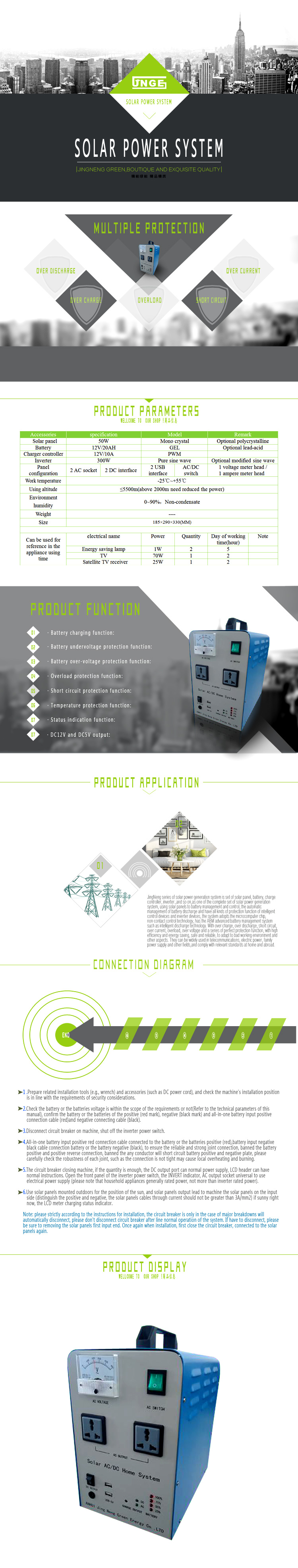 Solar Home lighting Power System